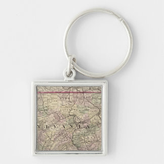 Pennsylvania, Maryland, New Jersey, Delaware Key Ring