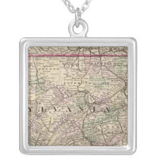Pennsylvania, Maryland, New Jersey, Delaware Silver Plated Necklace