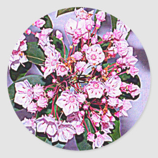 Pennsylvania Mountain Laurel Round Sticker
