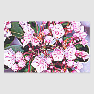 Pennsylvania Mountain Laurel Rectangular Sticker