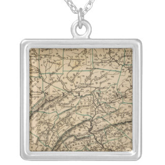 Pennsylvania, New Jersey Silver Plated Necklace