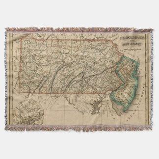 Pennsylvania, New Jersey Throw Blanket