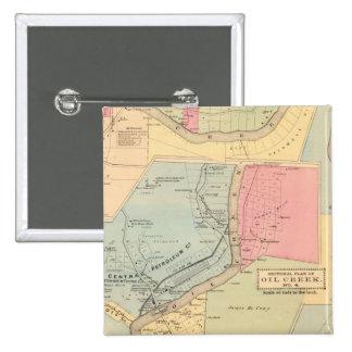 Pennsylvania Oil Creek Counties 15 Cm Square Badge