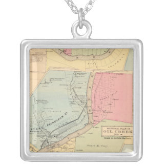 Pennsylvania Oil Creek Counties Silver Plated Necklace