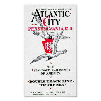 Pennsylvania Railroad Atlantic City Service 1904 Poster