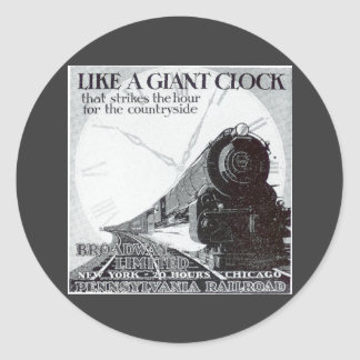 Pennsylvania Railroad Broadway Limited 1929 Classic Round Sticker