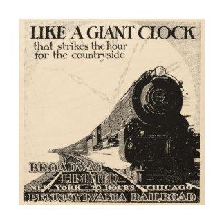Pennsylvania Railroad Broadway Limited 1929 Wood Print
