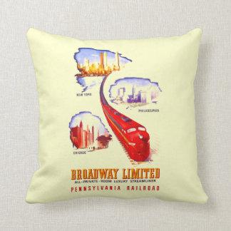 Pennsylvania Railroad Broadway Limited Streamliner Cushion