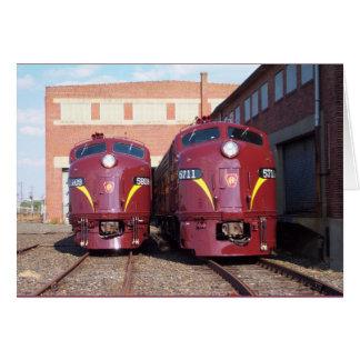 Pennsylvania Railroad E-8a,s (JTFS) 5809 and 5711 Card