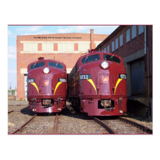 Pennsylvania Railroad E-8a,s (JTFS) 5809 and 5711 Postcard