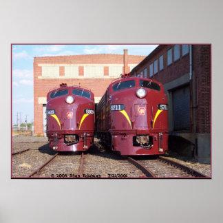 Pennsylvania Railroad E-8a,s (JTFS) 5809 and 5711 Poster