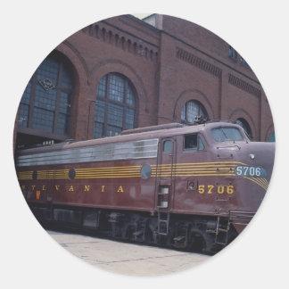 Pennsylvania railroad EMD E-8 restored in 1988 Re Round Sticker