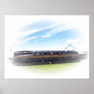Pennsylvania Railroad GG-1 #4800 Side View Poster