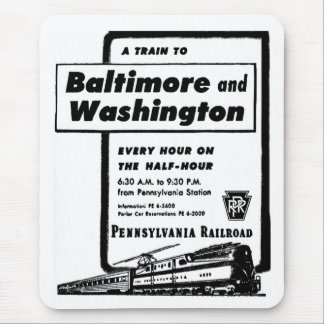 Pennsylvania Railroad Hourly Trains 1948 Mouse Mat