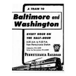Pennsylvania Railroad Hourly Trains 1948 Post Cards