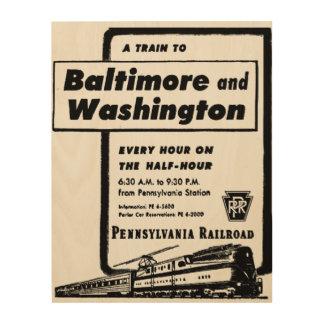 Pennsylvania Railroad Hourly Trains 1948 Wood Print