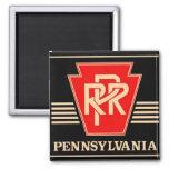 Pennsylvania Railroad Keystone, Black & Gold Refrigerator Magnet