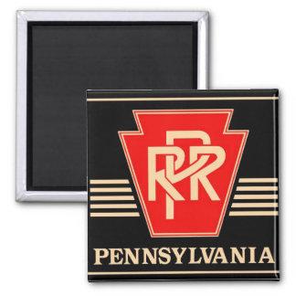 Pennsylvania Railroad Keystone, Black & Gold Magnet
