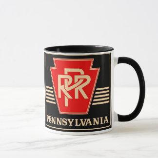 Pennsylvania Railroad Keystone Black & Gold Mug