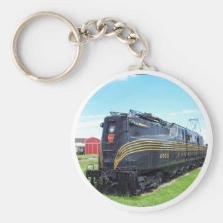 Pennsylvania Railroad Locomotive GG-1 #4800 Basic Round Button Key Ring
