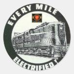 Pennsylvania Railroad Locomotive GG-1 #4800 Round Sticker
