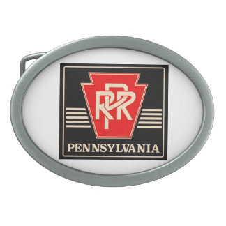 Pennsylvania Railroad Logo Belt Buckle
