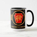 Pennsylvania Railroad Logo, Black & Gold