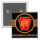 Pennsylvania Railroad Logo, Black & Gold 15 Cm Square Badge