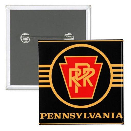 Pennsylvania Railroad Logo, Black & Gold Buttons