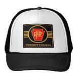 Pennsylvania Railroad Logo, Black & Gold Cap