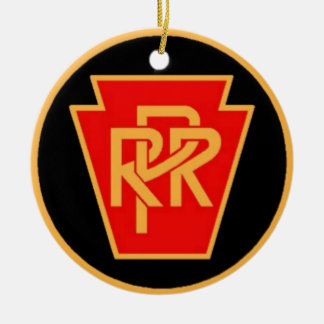 Pennsylvania Railroad Logo, Black & Gold Christmas Ornament