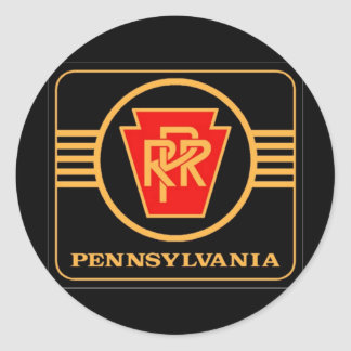 Pennsylvania Railroad Logo, Black & Gold Classic Round Sticker