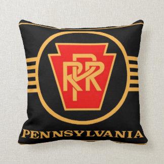 Pennsylvania Railroad Logo, Black & Gold Cushion