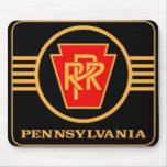 Pennsylvania Railroad Logo, Black & Gold Mousepads
