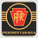 Pennsylvania Railroad Logo, Black & Gold Sticker