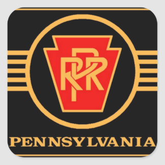 Pennsylvania Railroad Logo, Black & Gold Sticker
