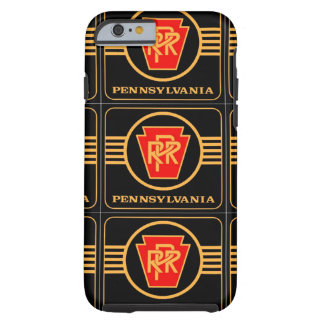 Pennsylvania Railroad Logo, Black & Gold Tough iPhone 6 Case