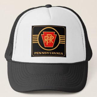 Pennsylvania Railroad Logo, Black & Gold Trucker Hat