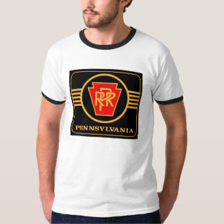 Pennsylvania Railroad Logo Ringer T- Shirt