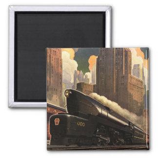 Pennsylvania Railroad Poster Magnet