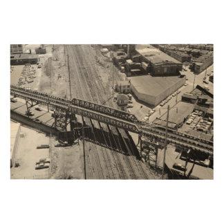 Pennsylvania Railroad Shore Tower Wood Wall Art