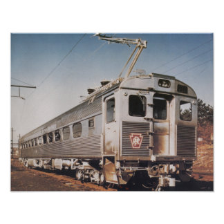 Pennsylvania Railroad Silverliner Electric Coach Poster