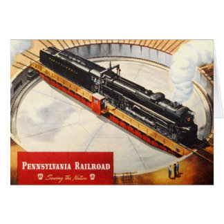 Pennsylvania Railroad Steam Turbine Greeting Card