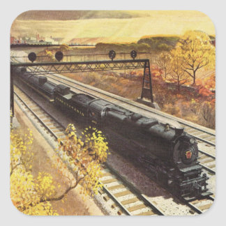 Pennsylvania Railroad Tanker Trains 1942 Square Sticker