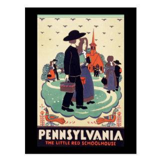 Pennsylvania Railroad The Little Red Schoolhouse Postcard
