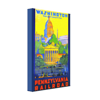 Pennsylvania Railroad to Washington D.C. Canvas Print