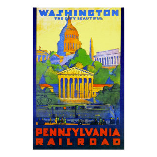 Pennsylvania Railroad to Washington D.C. Poster