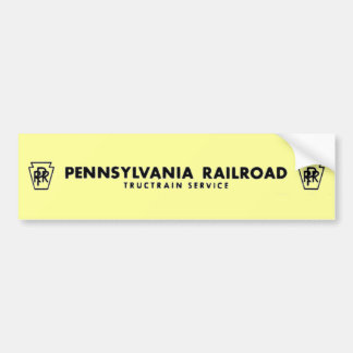 Pennsylvania Railroad TrucTrain Service Bumper Sticker