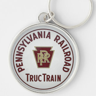 Pennsylvania Railroad TrucTrain Service Silver-Colored Round Key Ring