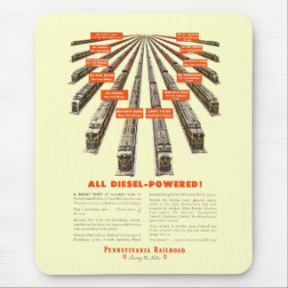 Pennsylvania Railroads East-West Now all Diesel Mouse Mat